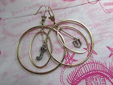 Juicy Couture Earrings Royal Crown J Shield Hoops NWD $65