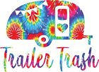 YETI CUP SIZE  Old Style Trailer Trash Tie Dyed Sticker Decal