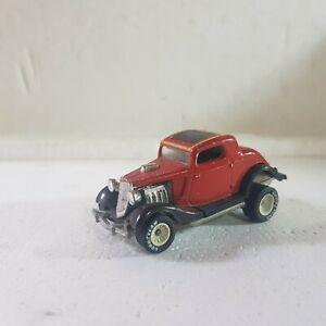 Vintage Hot Wheels 34 ford hotrod red flake white hub real riders hi jacker