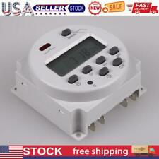Dc 12v 16a Digital Lcd Power Programmable Timer Time Switch Relay 16a