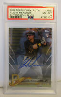 PSA 8 Graded NM-MT 2018 Topps Clearly Authentic Austin Meadows Black Auto Rookie