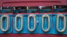AT&T BEIGE Handset Cords Lot -- H4DU-60 12'