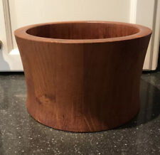 "Large Mid Century Staved Teak Bowl by Richard Nissen Denmark 9"" Diameter MCM"