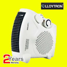 Lloytron 2000w Fan Heater with 2 Heat Settings & Cool Blow F2003WH Compact CE