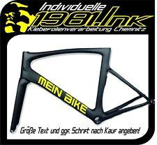 2 Fahrradrahmen Aufkleber Name Wunschtext Schriftzug MTB Rennrad Unterrohr 50cm