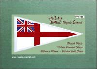 Royale Scooter Antenna Pennant Flag Royal Navy White Ensign - FP1.1085