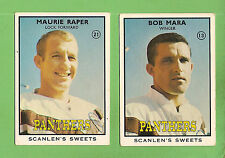 1968 SERIES 2 SCANLENS PENRITH   RUGBY LEAGUE TEAM CARDS, ALL 2 CARDS