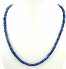 93 Ct Natural Blue Lapis Lazuli Tyre Heishi Rondelle Beads Necklace String- B155