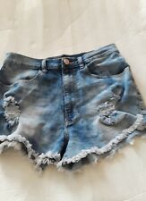 P18 PROJECT EIGHTTEEN WOMEN DISTRESSED JEAN SHORTS SIZE XL COLOR BLUE W28XL2 INS