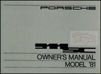 911 1981 PORSCHE OWNERS MANUAL 911SC OWNER HANDBOOK SC