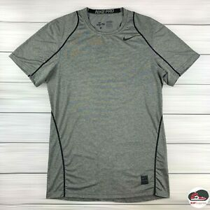 Nike Pro Shirt Men's Small Fitted Carbon Heather Dri-FIT Short Sleeve Activewear