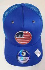 Patriotic Pitbull Usa Blue Snapback Hat High Quality Premium Headwear Round Flag