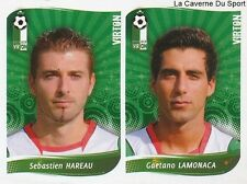 553 HAREAU - LAMONACA BELGIQUE EXCELSIOR VIRTON STICKER FOOTBALL 2009 PANINI
