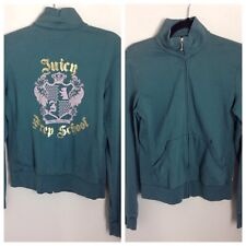 Authentic Juicy Couture Zip Top In Muted Sea Green. Great Cond & Detail. UK L