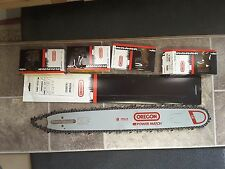 "20"" Oregon chainsaw guide bar 208RNDD033 & 4 chain combo 122, 123, 133, 143, 144"