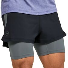 Under Armour Rush 2 In 1 Mens Running Shorts - Black