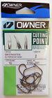 OWNER Cutting Point Hooks Size 2  Pack of 10 Model 5180-091 Black Chrome Finish