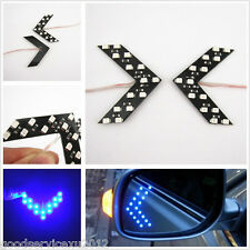 2 Pcs 14-SMD LED Blue Lamp Arrow Auto Side Mirror Turning Signal Light For Lexus