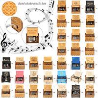 Harry Potter Music Box Engraved Wooden Music Box Interesting Toys Xmas Kids Gift