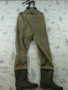 White River Fly Shop Fishing Waders Chest High Stocking Foot Men's Large 11 shoe