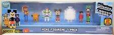 Disney Crossy Road Series 1 Mini Figurine 7 Pack Includes 2 Exclusive Figurines