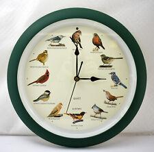 Mark Feldstein & Associates Singing Bird Wall Clock Green - Battery Powered