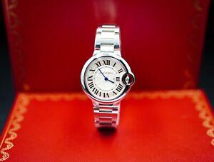 Cartier Ballon Bleu Silver Dial Stainless Steel Ladies Watch W6920084