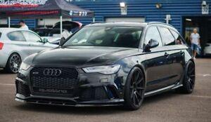 For Audi RS6 C7 4G  Front Bumper Lip Spoiler ABS Plastic P Performance