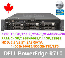 "DELL PowerEdge R710 Server 2x X5670 48GB RAM 4x 2TB SAS 3.5"" H700 Raid 2x870W"