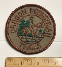 Oregon Equestrian Trails OET Horse Riding OR State Round Embroidered Patch