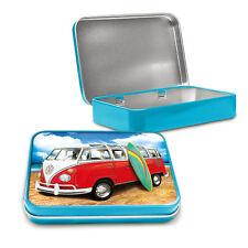 Volkswagen Samba Surf Camper Metal Keepsake Tin Men Gift Storage Licensed 50474