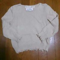 Maison Martin Margiela 100% Cotton Kint Tops Sweater Beige Women S-M From Japan