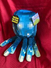 "2020 Minecraft Earth SQUID 18"" Plush Glow NWT Large Pillow Plush"