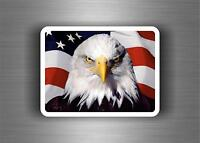 Sticker decal art wall car moto biker usa american flag united states eagle