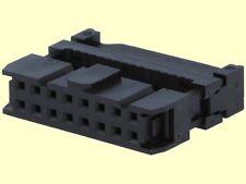 100 pcs. Pfostenverbinder Pfostenbuchse 16polig Flachbandkabel mit Zugentl.  #WP