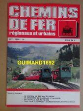 Chemins de fer régionaux et urbains n°207 mai 1988 chemin de fer du Rothorn
