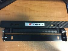 NEW JDM TRD Adjustable Carbon Fiber LOOK Car Racing License Plate Frame Holder