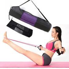 New Black Portable Yoga Mat Bag Nylon Exercise Mesh Center Adjustable
