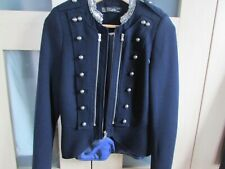zara military style  short jacket with sequin detail  NWOT size 8/10
