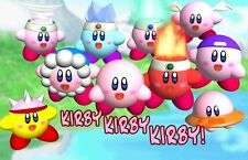 KIRBY NINTENDO Edible Birthday Cake Topper Frosting Icing 1/4 Sheet