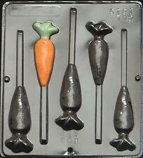 Carrot Pop Lollipop Chocolate Candy Mold Easter  1825 NEW