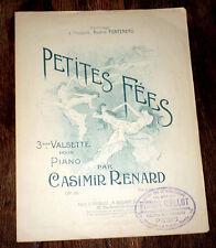 petites fées 3ème valsette Op.99 partition pour piano 1900 Casimir Renard