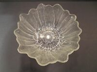 Vintage Textured Glass Bowl Flower Dish Candy Nut Serving Bowl Indiana Lily Pons
