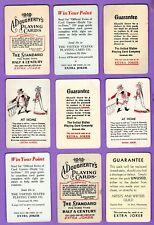 9 Single Swap Playing Cards EXTRA JOKERS  #1 DECO VINTAGE LOT DOUGHERTY ETC