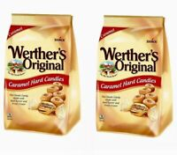 TWO 34 Oz Bags Werther's Original Caramel Hard Candy 68 oz Total By Storck