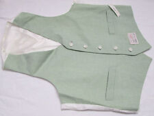 Danton Combo Men's Dress 2 Pocket Suit Vest Green & White Size 40 New