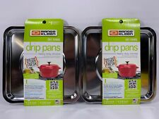Lot of 2 - Square Gas Range Pan Cooking appliances part Range Kleen SGP-400 (2)