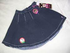 NWT MIM PI Denim Pleated LOVE Skirt 134 9 10 8 $67 Deer Kitten Patch Jean Dress