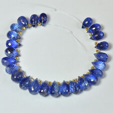 Gem Kyanite Faceted Teardrop Briolette Beads 4.5 inch Strand