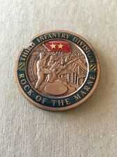 REAL Challenge Coin 3rd Infantry Division Commanding General 'Rock of the Marne'